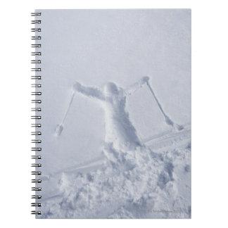 Skiers 2 spiral notebook