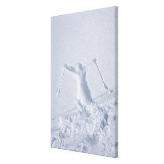 Skiers Canvas Print