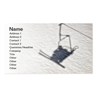 Skiers shadow business card templates