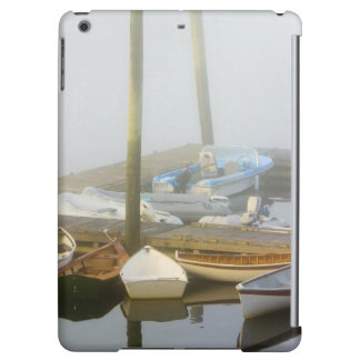 Skiffs and morning fog in Southwest Harbor, iPad Air Cover