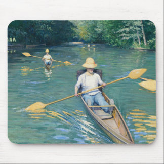 Skiffs by Gustave Caillebotte Mouse Pad