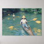 Skiffs - Gustave Caillebotte Poster