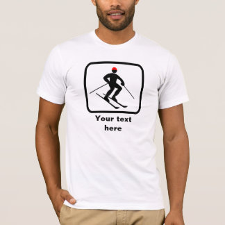 Skiier Logo -- Customizable T-Shirt