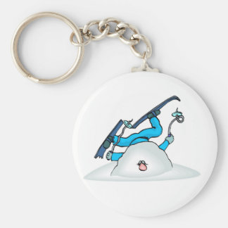 Skiier Skiing Winter Snow Keychain