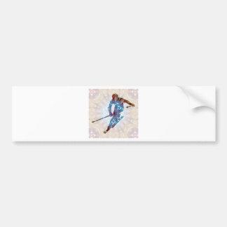 Skiing 02 bumper sticker