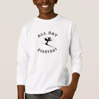 Skiing All Day Everyday R T-Shirt