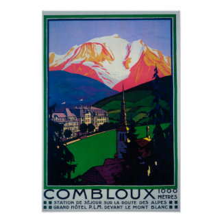 Skiing at Combloux Promotional Poster