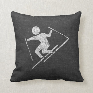 Skiing At Play Cushion