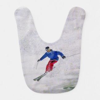 Skiing Baby Bib