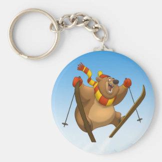 Skiing Bear Keychain