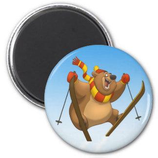 Skiing Bear Magnet