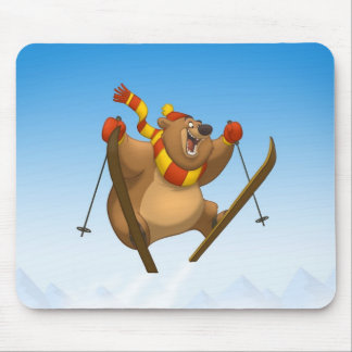 Skiing Bear Mousepad
