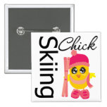 Skiing Chick 15 Cm Square Badge
