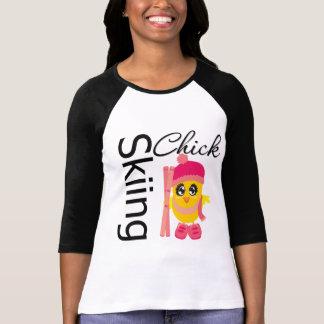 Skiing Chick Tee Shirts