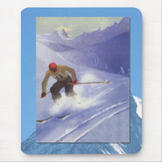 Skiing -Downhill ski racer Mouse Pad