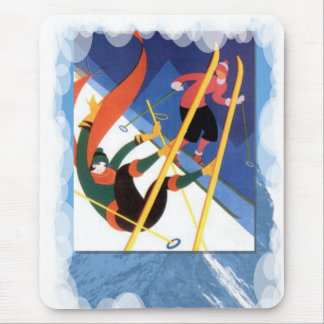 Skiing -Falling is part of the fun Mouse Pad
