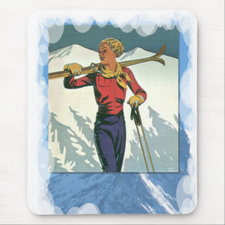 Skiing -Fashion on the piste Mouse Pad