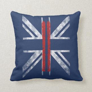 SKIING FLAG (UK) CUSHION