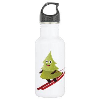Skiing Happy Pine Tree Winter 532 Ml Water Bottle