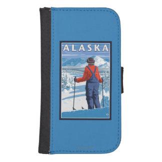 Skiing in Alaska Vintage Travel Poster Samsung S4 Wallet Case