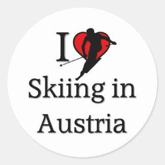 Skiing in Austria Round Sticker