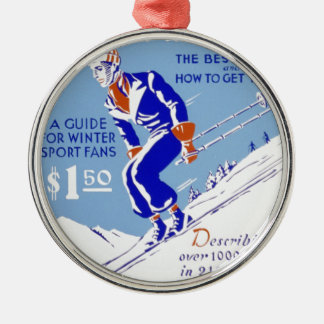 Skiing in the East Christmas Ornament