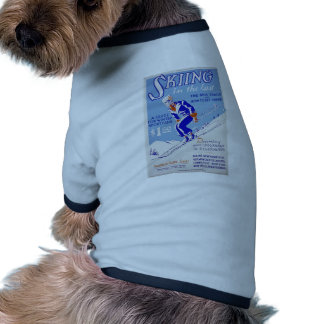 Skiing in the East Ringer Dog Shirt