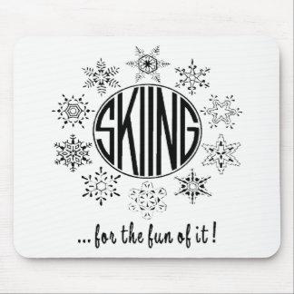 Skiing is Fun - Mouse Pad