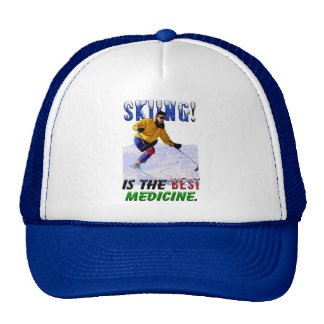 Skiing is he Best Medicine Trucker Hat