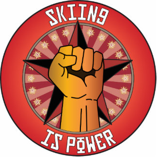 Skiing Is Power Photo Sculpture