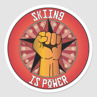 Skiing Is Power Sticker