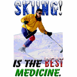Skiing is the Best Medicine Photo Cut Outs