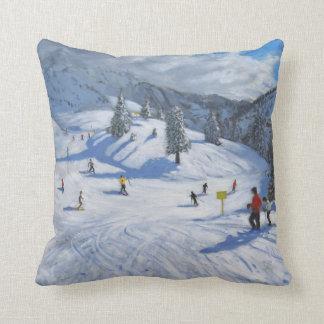 Skiing Kitzbhuel 2014 Cushion