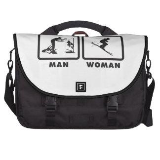 Skiing Laptop Messenger Bag