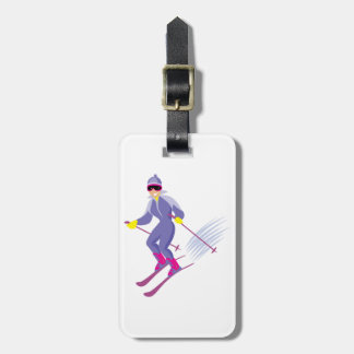 Skiing Luggage Tags