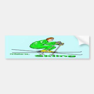 Skiing Man Car Bumper Sticker