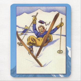 Skiing -Mishap on the slopes Mouse Pad