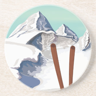 Skiing Mountains Coaster