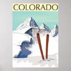 Skiing Mountains Poster