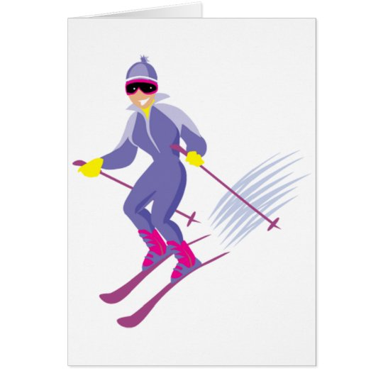 Skiing Note Cards