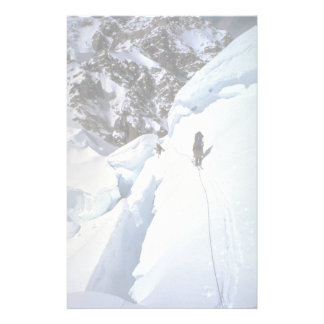 Skiing over Kahiltna Pass Winter Custom Stationery