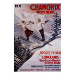 Skiing Promotional Poster