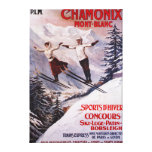 Skiing Promotional Poster Canvas Print