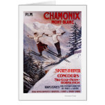Skiing Promotional Poster Greeting Card