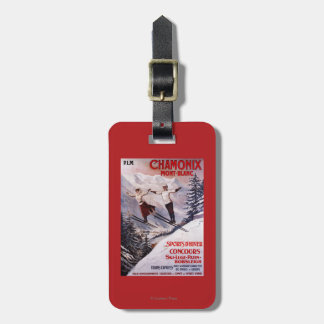 Skiing Promotional Poster Luggage Tag