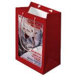 Skiing Promotional Poster Medium Gift Bag