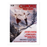 Skiing Promotional Poster Post Cards
