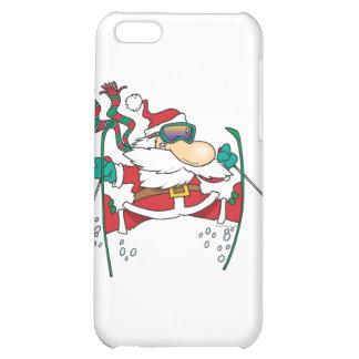 skiing santa claus cartoon case for iPhone 5C