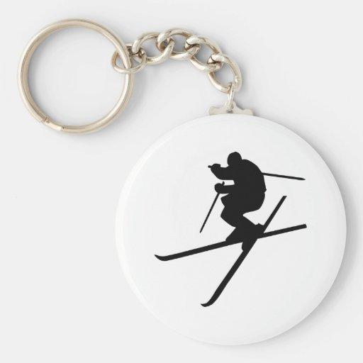Skiing - Ski Freestyle Key Chains