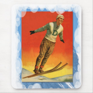 Skiing -Ski jumper in competition Mouse Pad